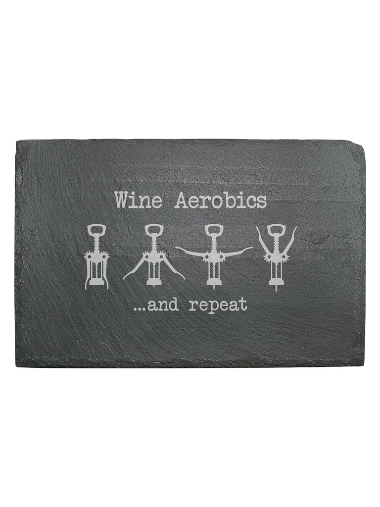 Wine Aerobics Slate Cheese Board