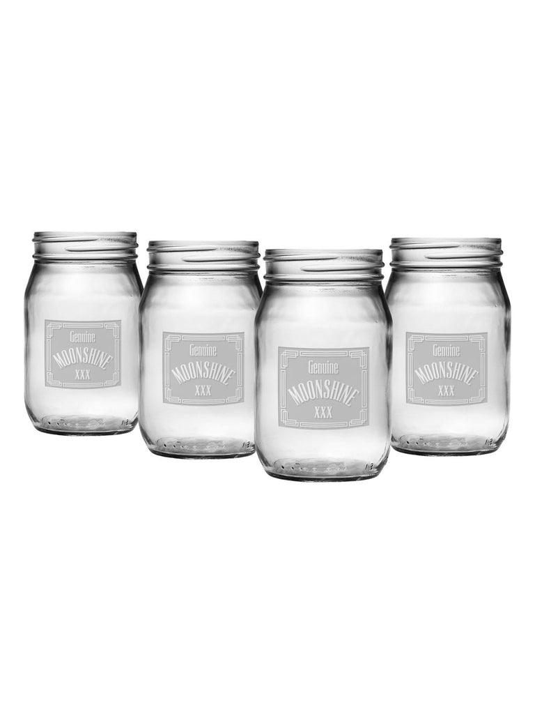 Moonshine Drinking Jars ~ Set of 4