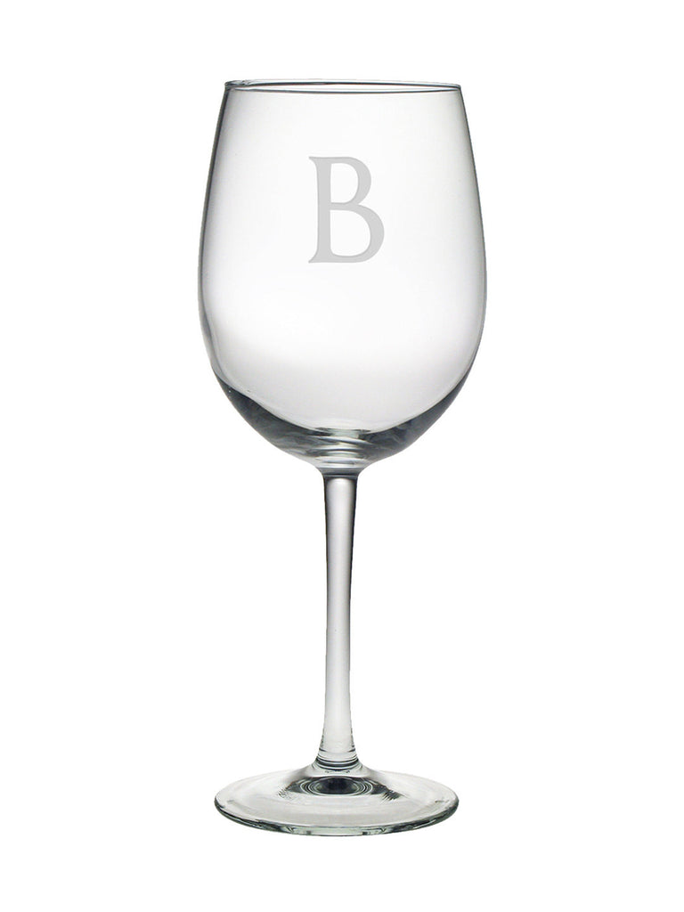 Initial Wine Glasses ~ Set of 4