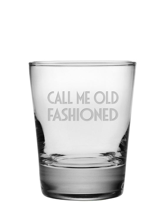 Call Me Old Fashioned Double Old Fashioned Glasses ~ Set of 4