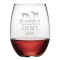 Life Is Simple Stemless Wine Glasses