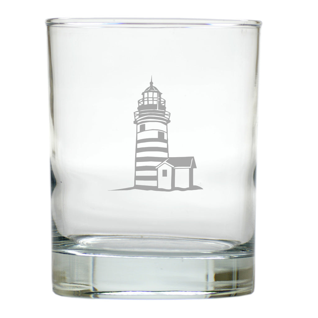 Lighthouse Double Old Fashioned Outdoor Glasses - Set of 4
