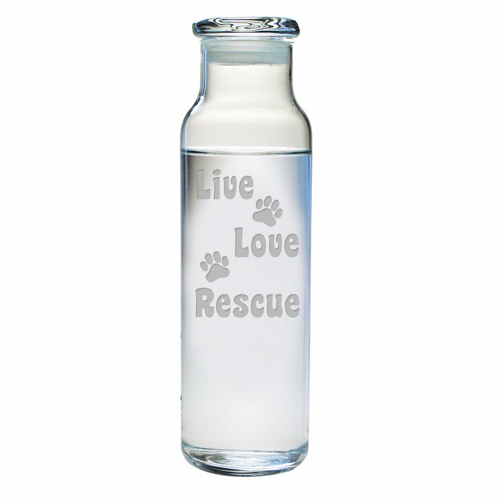 Live Love Rescue Water Bottle with Lid