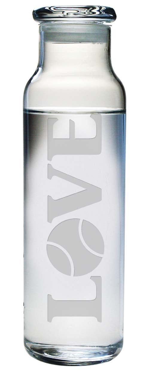 Love Tennis Water Bottle with Lid