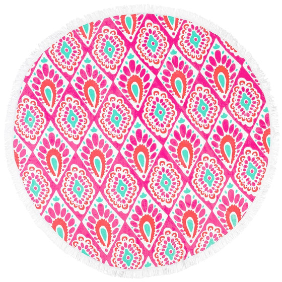 Beachy Keen Round Beach Towel - Monogrammed Gifts