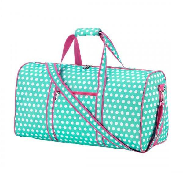 Petite Flowers Personalized Duffel Bag - Monogrammed Gifts for Girls