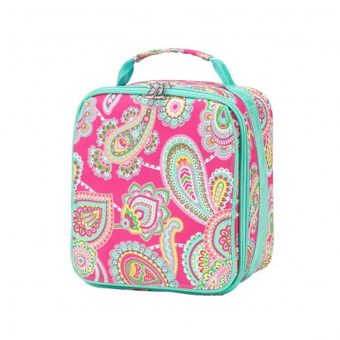 Pink Paisley Personalized Lunch Bag