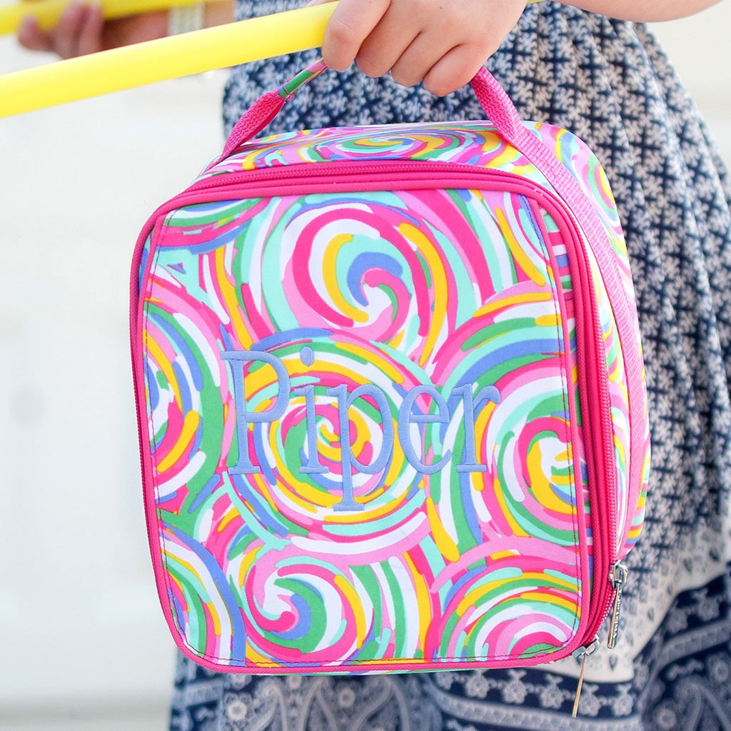 Swirls Personalized Lunch Bag