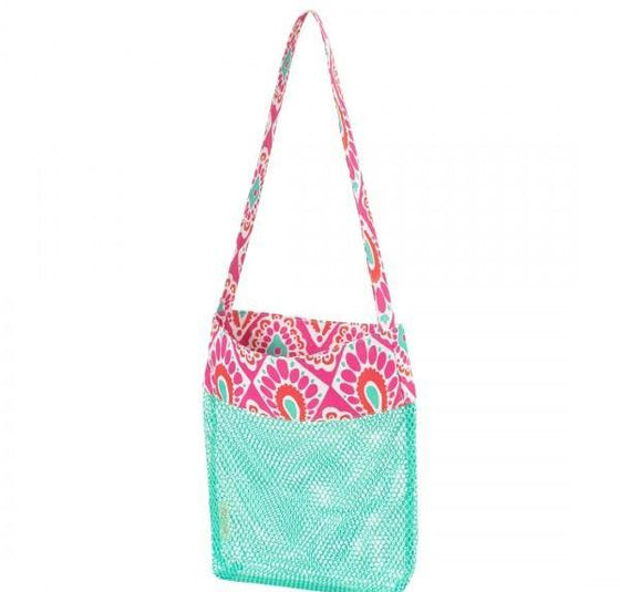 Beachy Keen Mesh Tote Bag - Monogrammed Beach Gifts