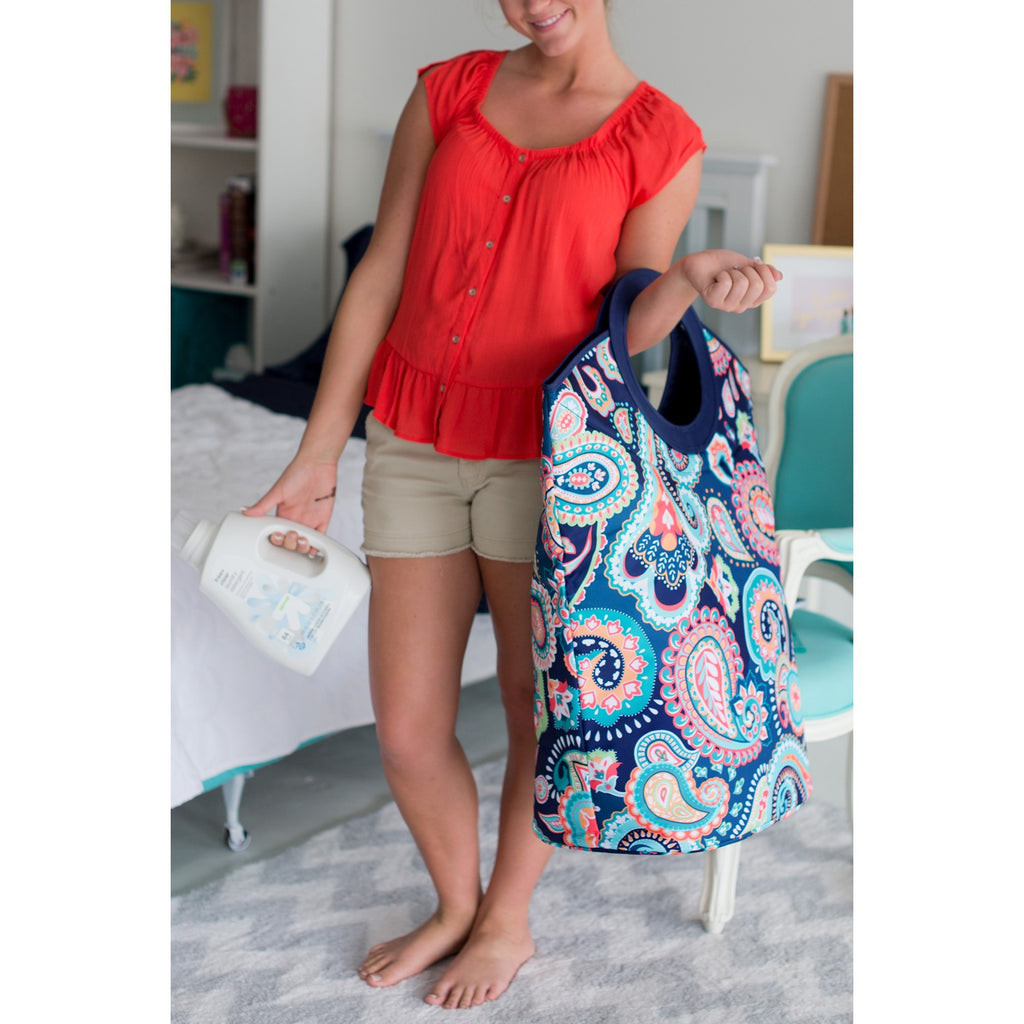 Emerson Paisley Personalized Tote and Laundry Bag - Premier Home & Gifts
