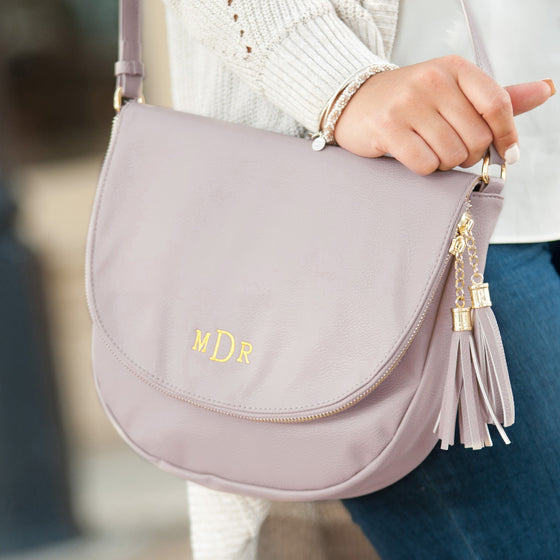 Sienna Tassel Crossbody Bag - Blush | Premier Home & Gifts