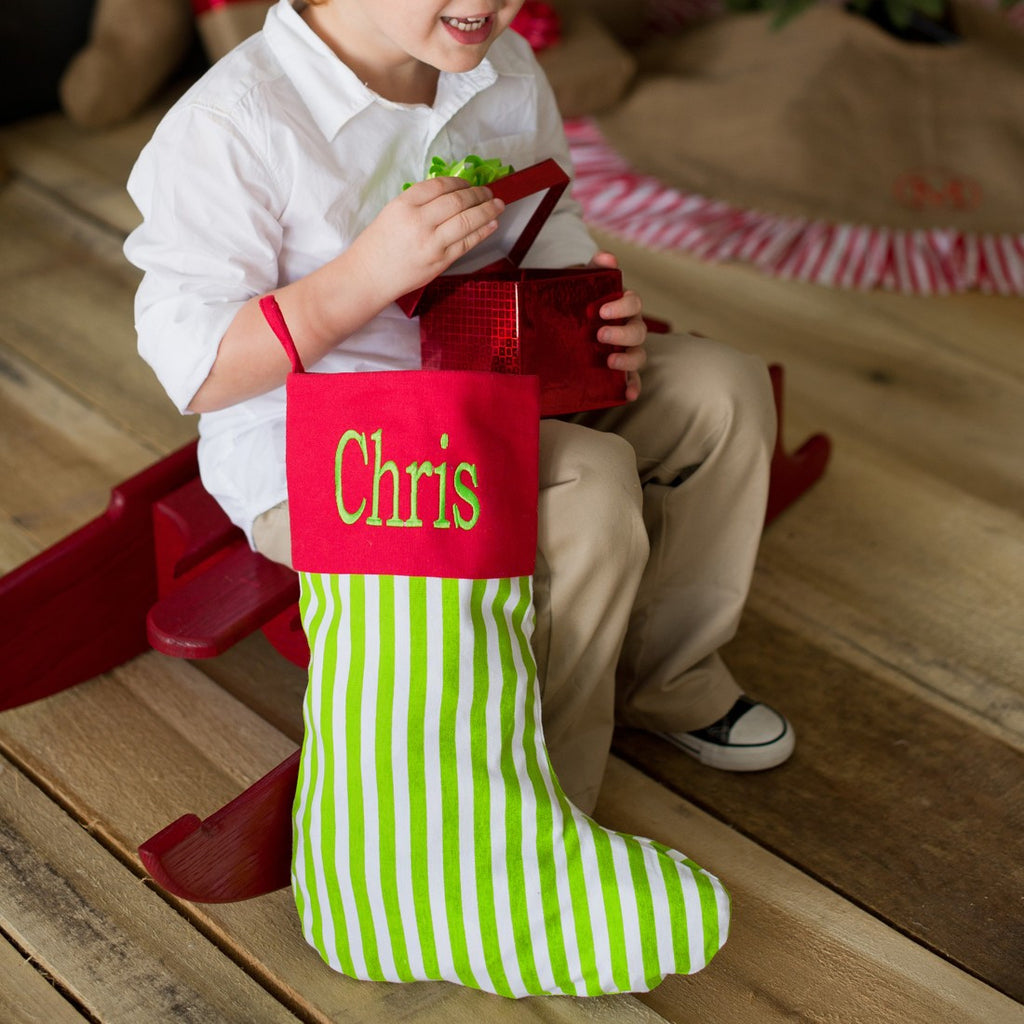 Christmas Stocking - Stripe Design | Premier Home & Gifts