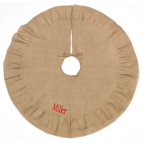 Christmas Tree Skirt - Burlap | Premier Home & Gifts