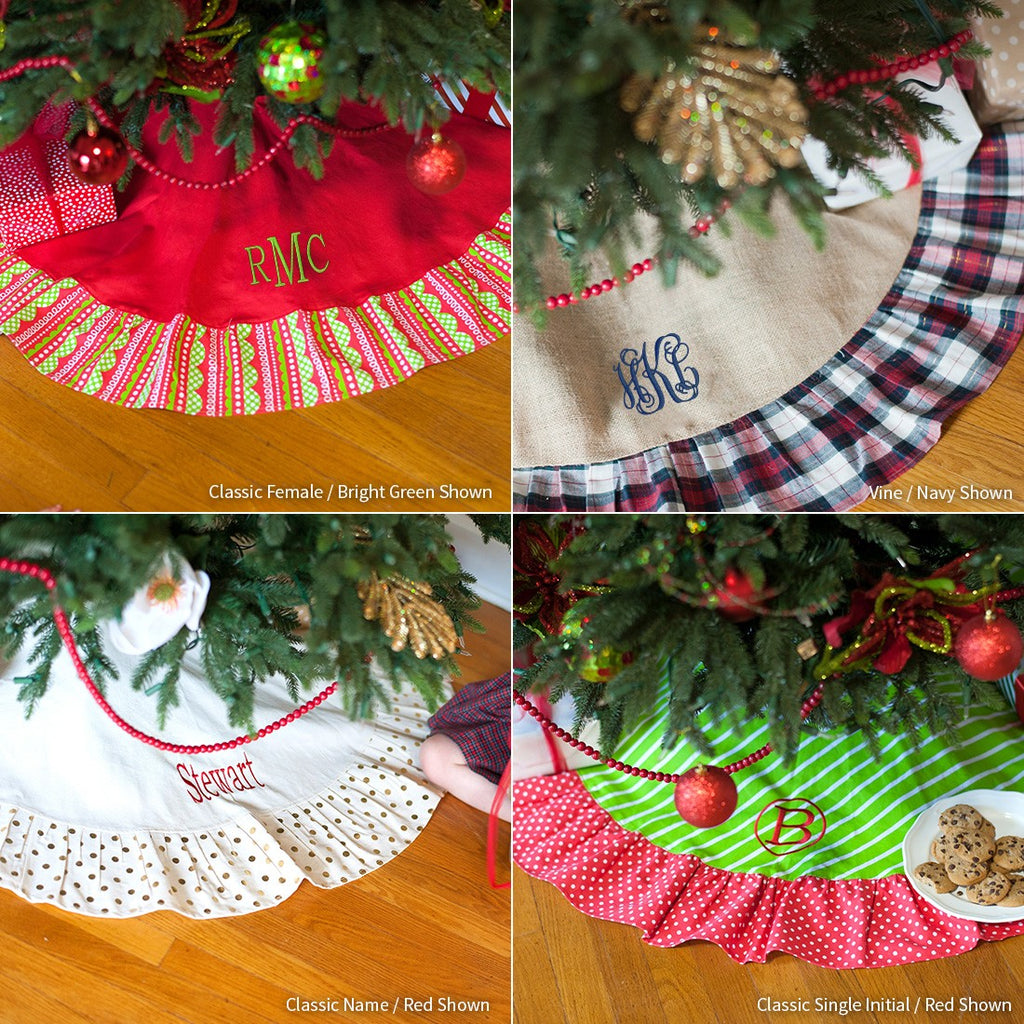 Christmas Tree Skirt - Merry Design - Premier Home & Gifts