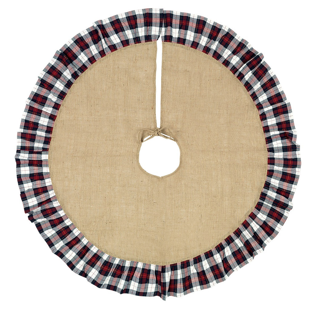 Christmas Tree Skirt - Plaid Design - Premier Home & Gifts