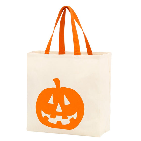Jack-O-Lantern Personalized Canvas Tote Trick or Treat Bag