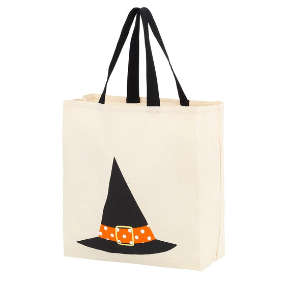 Witch's Hat Personalized Canvas Tote Trick or Treat Bag