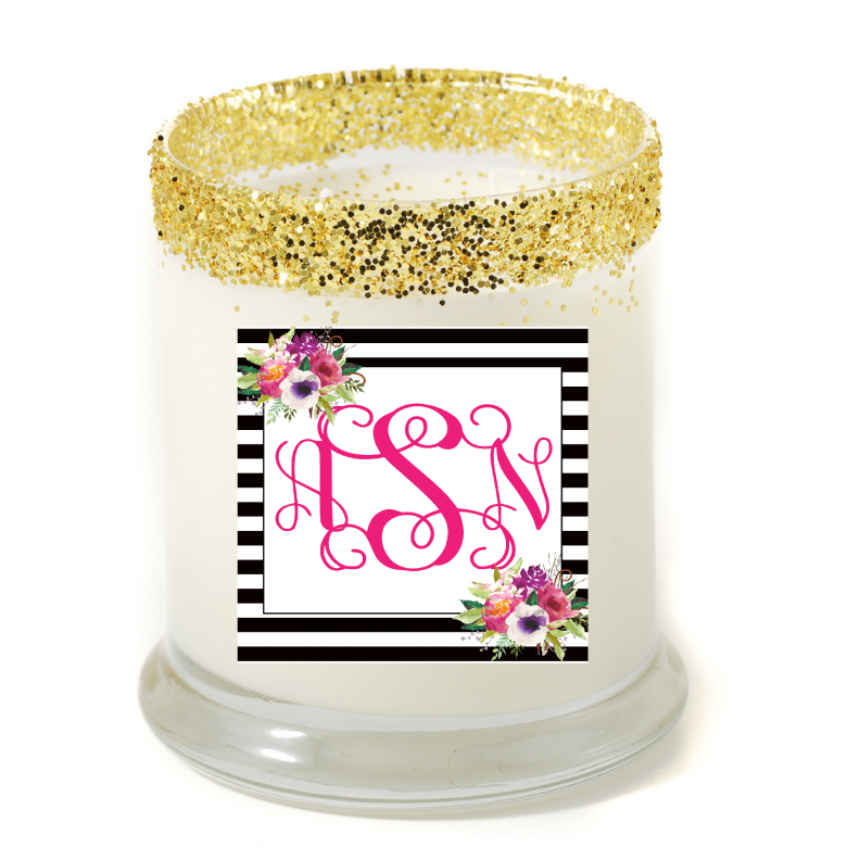 Madison Monogram Scroll Personalized Candle - Premier Home & Gifts