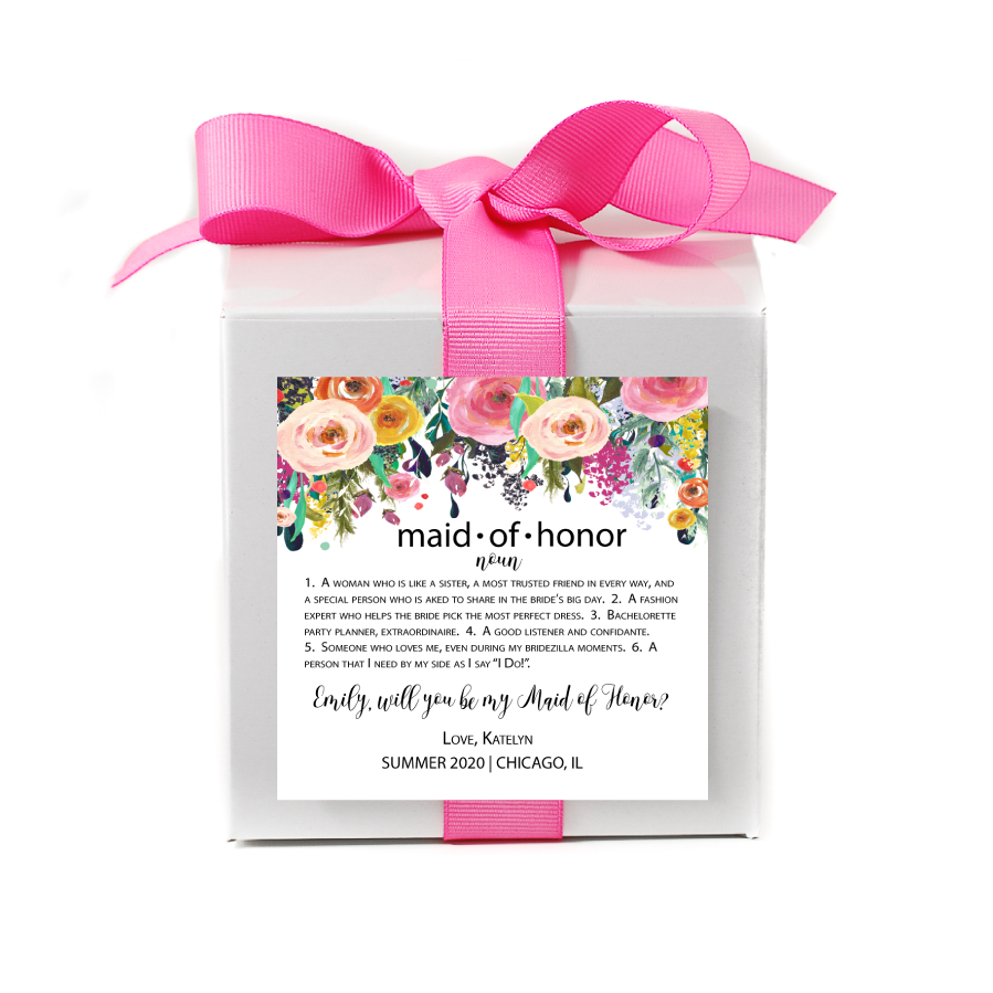 Maid of Honor Noun Personalized Candle - Bridesmaid Gifts - Premier Home & Gifts