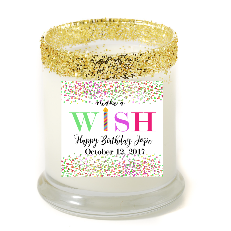 Make A Wish Birthday Personalized Candle - Birthday Gifts - Premier Home & Gifts