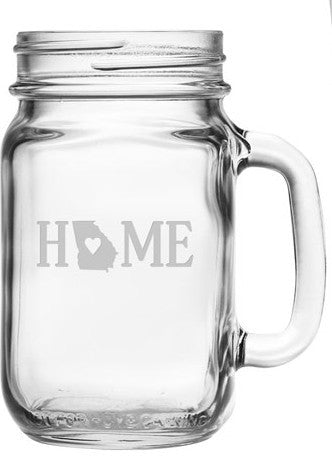 Home State Mason Jars ~ Set of 4