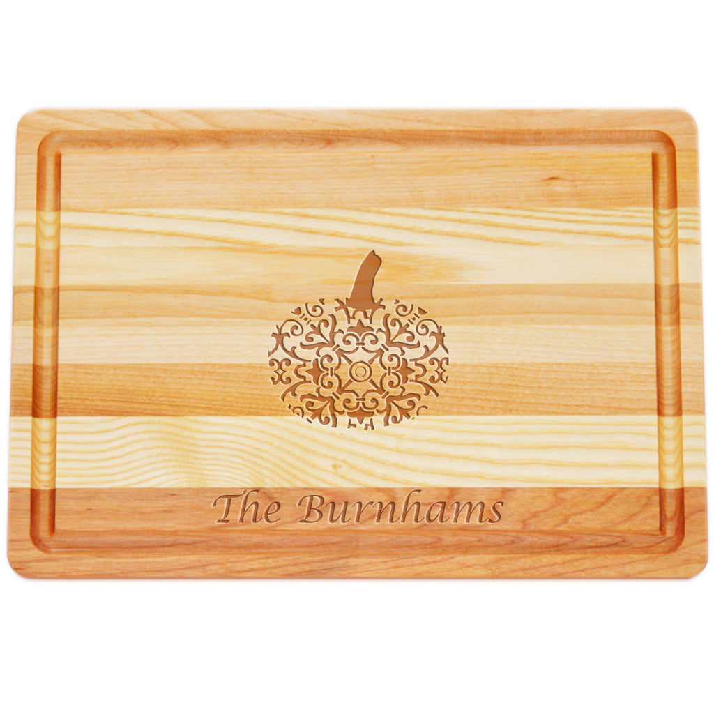 Pumpkin Personalized Serving Wood Tray