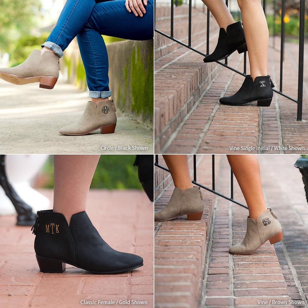 Gracie Ankle Boots - Taupe - Premier Home & Gifts
