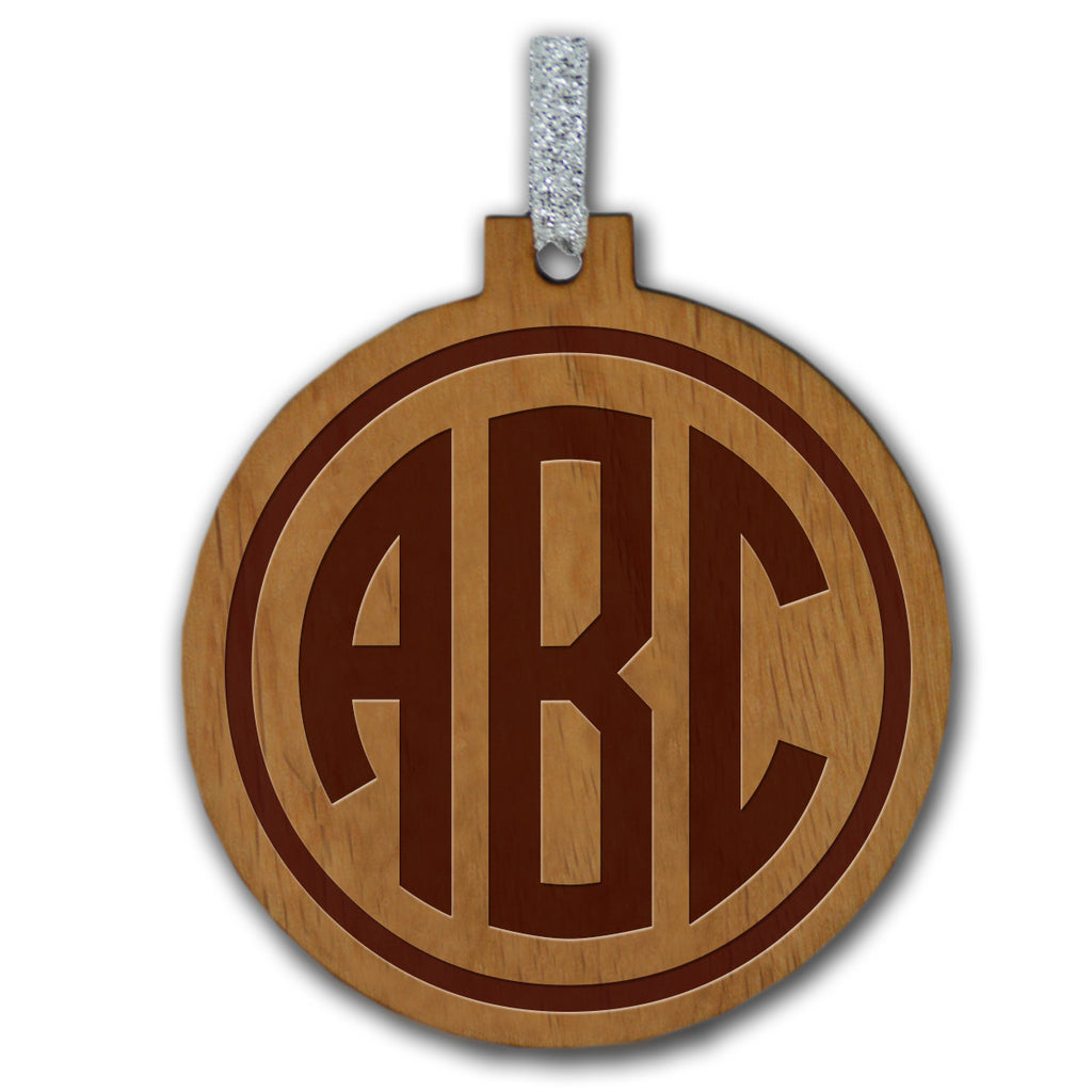 Monogram Wood Ornament