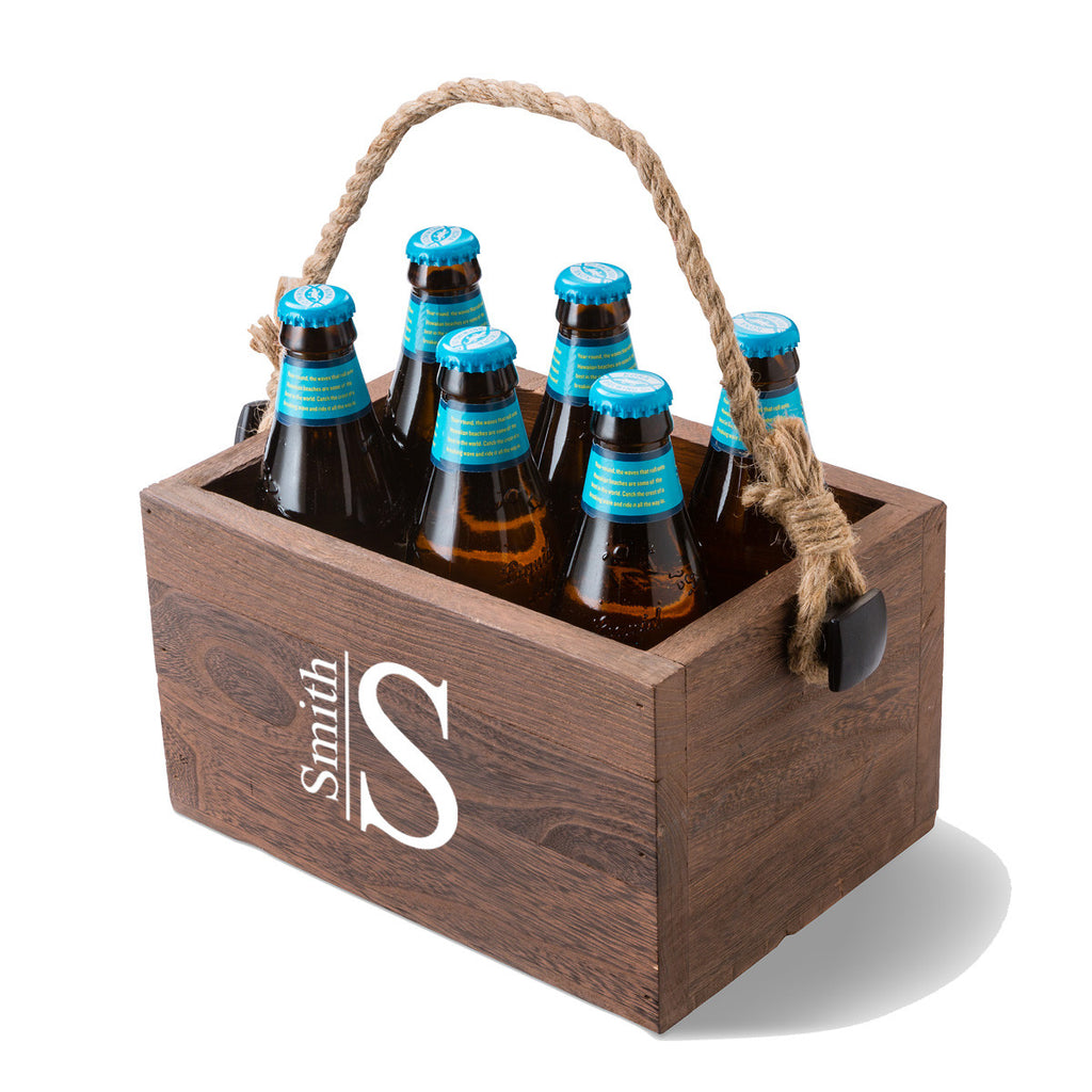Beer Caddy - Monogram Design
