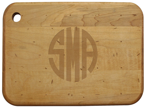 Artisan Wood Board with Monogram