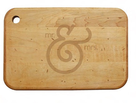 Mr. and Mrs. Ampersand Artisan Wood Board