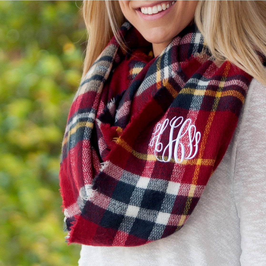 e25b13f9363f2 Infinity Scarf Monogrammed - Premier Home & Gifts ...