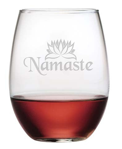 Namaste Stemless Wine Glasses