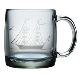 Clipper Ship Coffee Mugs ~ Set of 4