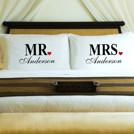 Mr. & Mrs. Pillow Cases - Personalized