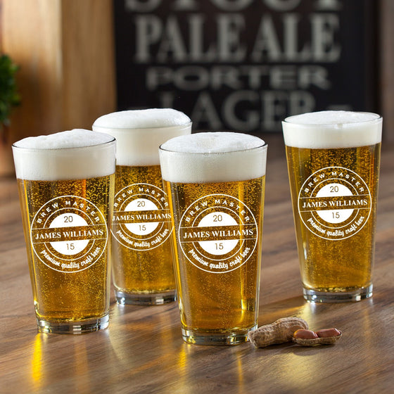 Brew Master Pint Set - Personalized