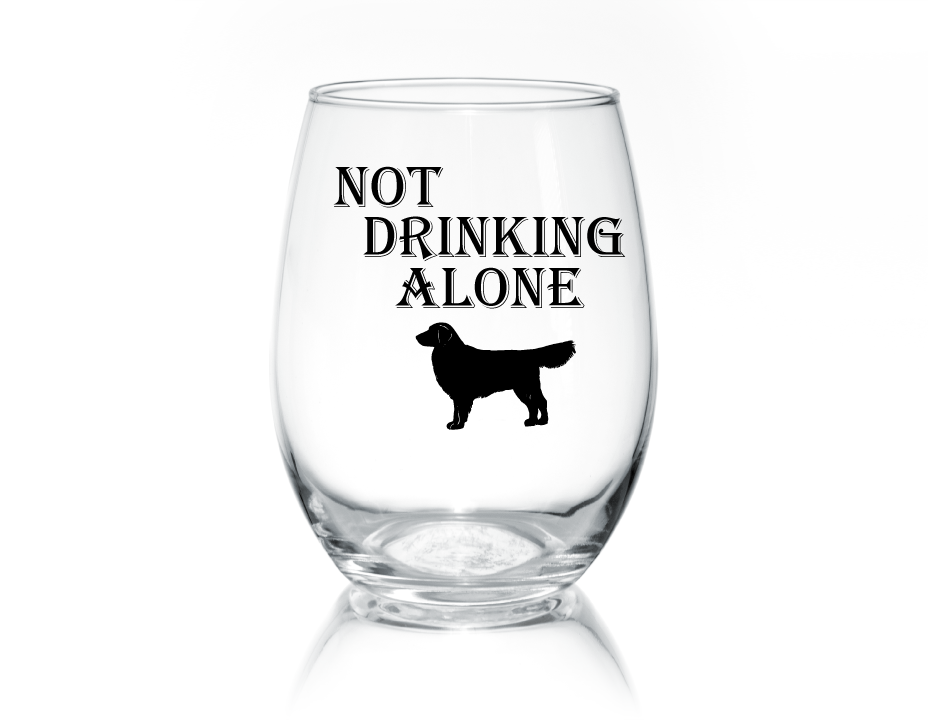Not Drinking Alone Stemless Glass