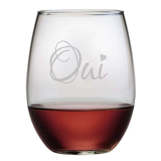Oui Stemless Wine Glasses