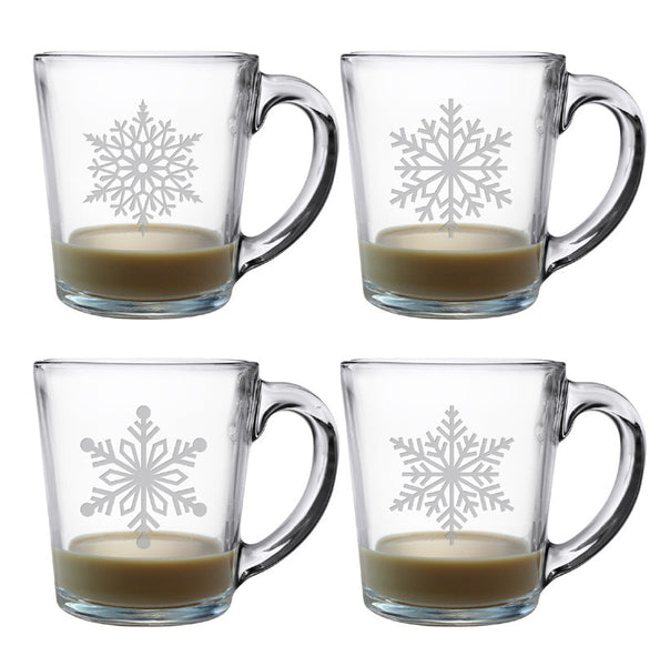 coffee mug sets paper snowflakes coffee mugs set of 4 30017
