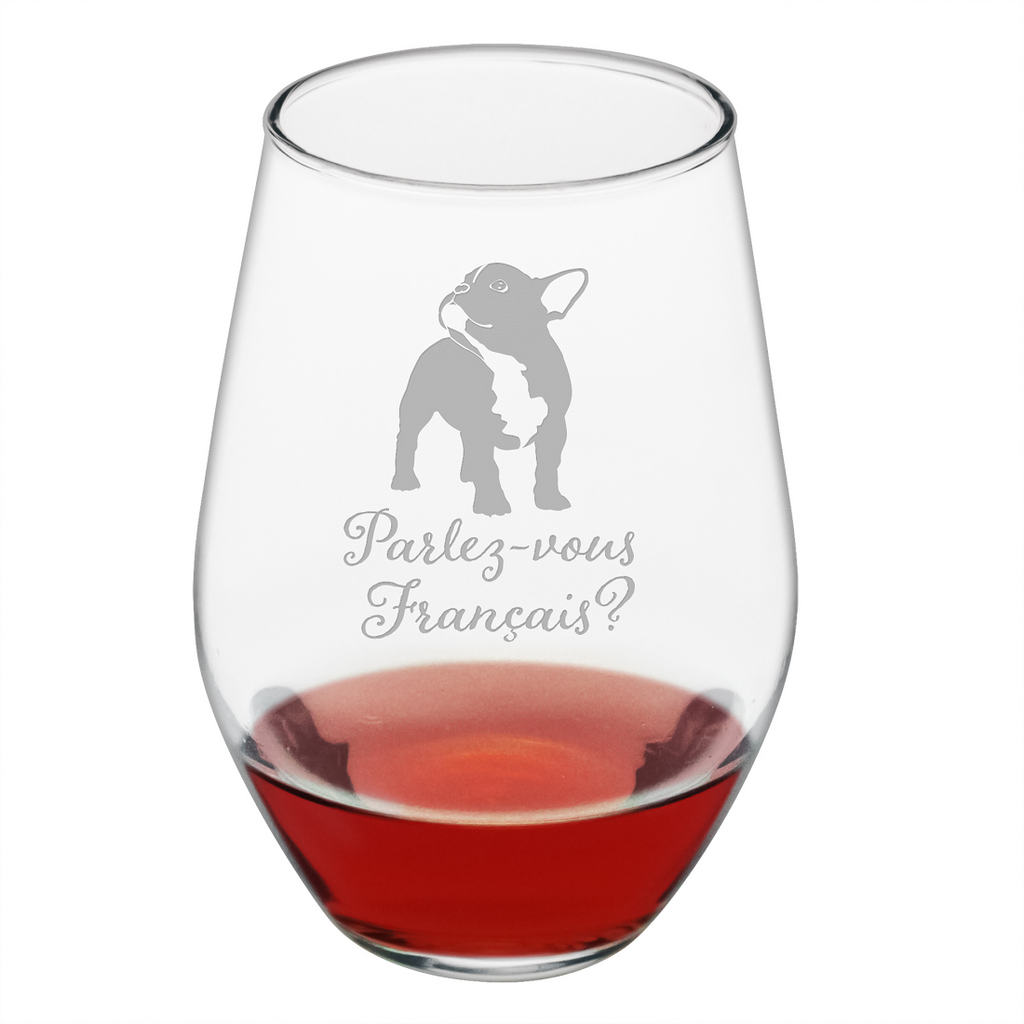 Parlez-vous Français? Stemless Wine Glasses - Premier Home & Gifts