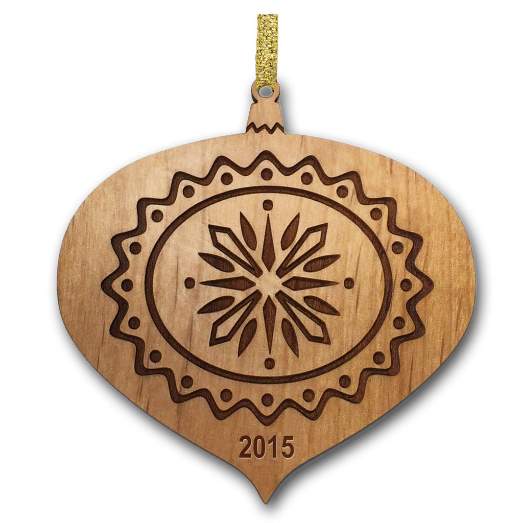 Teardrop Christmas Wood Ornament