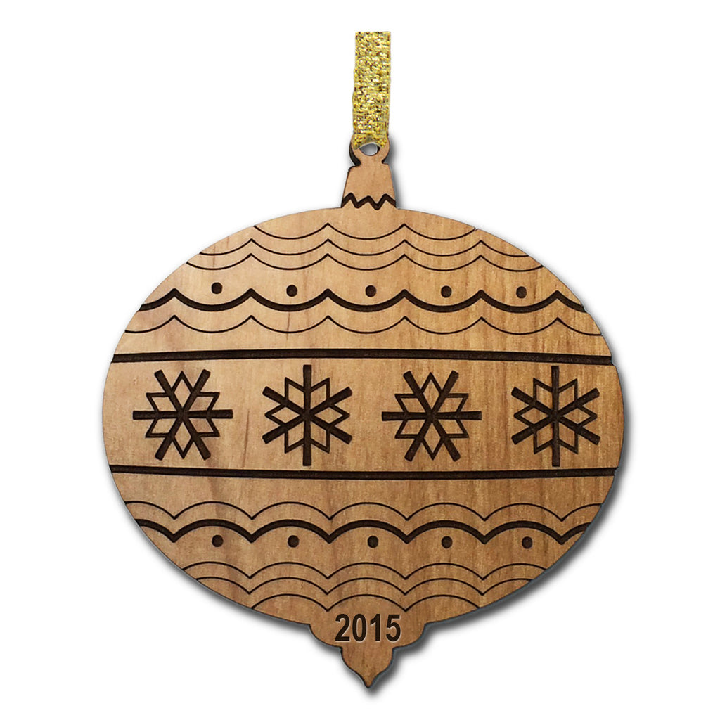 Timeless Christmas Wood Ornament