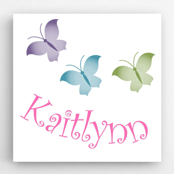 Butterflies Canvas Sign ~ Personalized