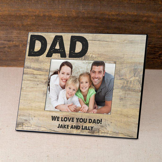 classic dad picture frame personalized