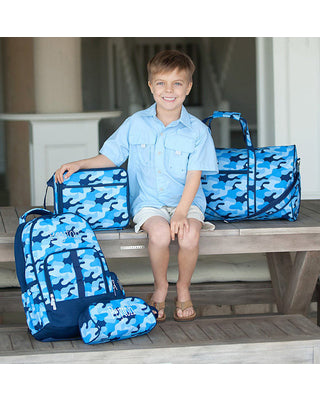 Blue Camo Duffel Bag - Kids Gifts - Monogrammed Gifts