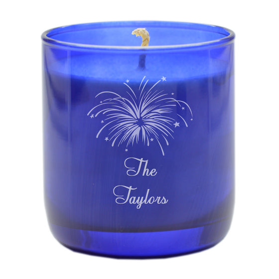 Fireworks Aromatherapy Scented Candle - Personalized