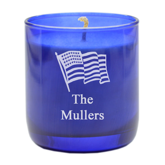 American Flag Aromatherapy Scented Candle - Personalized