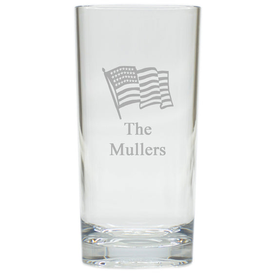 American Flag Highball Outdoor Glasses - Set of 4