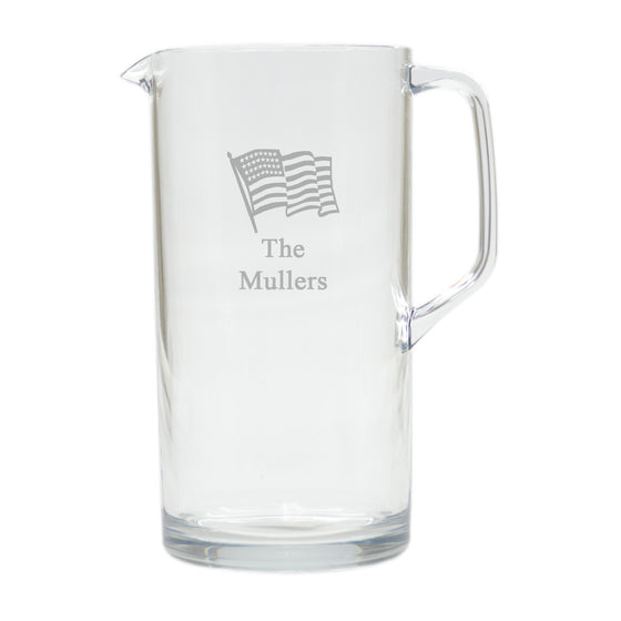 American Flag Outdoor Pitcher