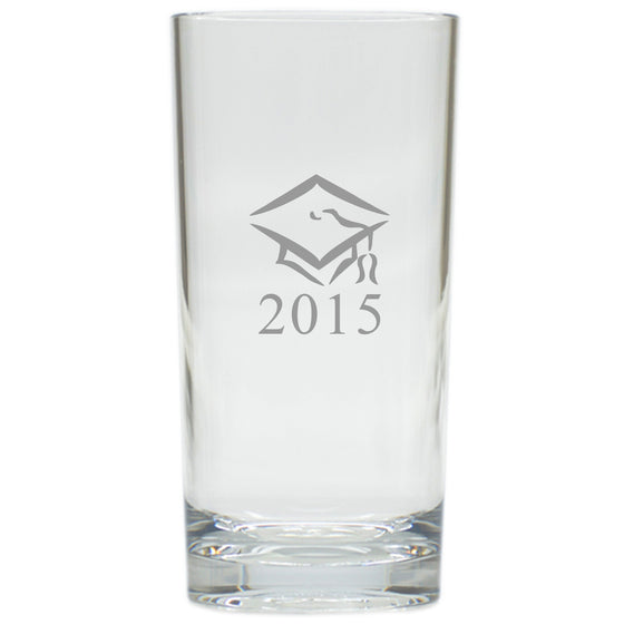 Graduation Cap and Year Highball Outdoor Acrylic Glasses - Set of 4